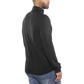 Icebreaker Fluid Zone Maglietta a maniche lunghe con zip Uomo, black/black